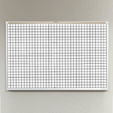 Porcelain Lifetime Grid Line 4' x 8' Whiteboard