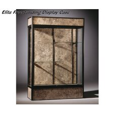 Series 93 Elite Freestanding Display Case with Cornice and light