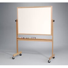 "Deluxe Reversible Dura-Rite/Cork 2'6"" H x 3'4"" L Whiteboard with Wood Frame"