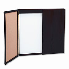 Wood Best-Rite® Wood Conference Cabinet 4' x 4-8' Whiteboard