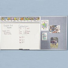 Combo-Rite Porcelain/Gray Vinyl Modular Type D Reverse DL Whiteboard