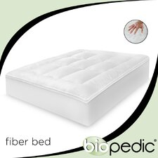 Baffled 100% Cotton Fiber Bed with Bonus Pillows