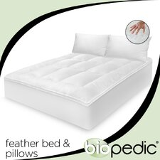 <strong>BioPEDIC</strong> 100% Cotton Feather Bed with Bonus Pillow