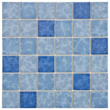 "<strong>EliteTile</strong> Pool 12-1/4"" x 12-1/4"" Porcelain Mosaic in Aegean"