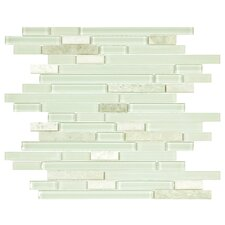 Sierra Random Sized Polished Glass and Stone Piano Mosaic in Ming
