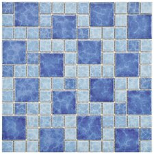 "<strong>EliteTile</strong> Pool 12-1/4"" x 12-1/4"" Porcelain Mosaic in Adriatic"