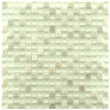 "Sierra 5/8"" x 5/8"" Polished Glass and Stone Mini Mosaic in Ming"