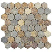Peak Natural Stone Mosaic Tile in Multi