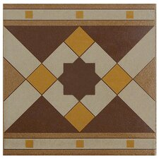 "Cementa 7"" x 7"" Ceramic Glazed Tile in Geo Cenefa"