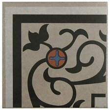 "Cementa 7"" x 7"" Ceramic Glazed Tile in And Esquina"