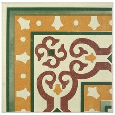 "Cementa 7"" x 7"" Ceramic Glazed Tile in Trab Esquina"