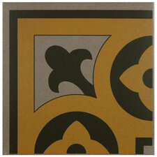 "Cementa 7"" x 7"" Ceramic Glazed Tile in Cla Esquina"