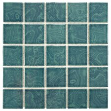 Utopia Porcelain Glazed Mosaic Tile in Green