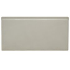 "Hexitile 8"" x 4"" Bullnose Tile Trim in Matte Gray"