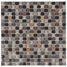 "<strong>EliteTile</strong> Sierra 11-3/4"" x 11-3/4"" Polished Glass and Stone Mini Mosaic in Stonehenge"