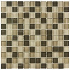 "<strong>EliteTile</strong> Sierra 11-5/8"" x 11-5/8"" Polished Glass Square Mosaic in Breeze"