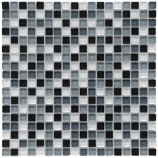 "<strong>EliteTile</strong> Sierra 11-3/4"" x 11-3/4"" Polished Glass Mini Mosaic in Night"