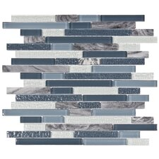 Sierra Random Sized Glass and Stone Polished Mosaic in Gulf