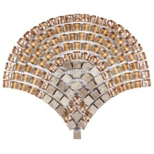 """Sierra 5/8"""" x 5/8"""" Polished Glass, Stone and Metal Mosaic in Toffee"""