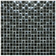 "Posh 11-3/4"" x 11-3/4"" Pixie Porcelain Mosaic Wall Tile in Black"