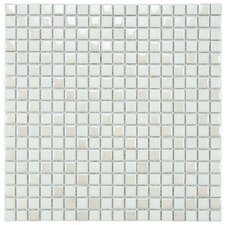 "Posh 5/8"" x 5/8"" Pixie Porcelain Mosaic Wall Tile in White"