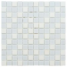 """Chroma 7/8"""" x 7/8"""" Square Glass and Stone Mosaic Wall Tile in Cordia"""