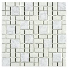 Academy Random Sized Porcelain Mosaic in White