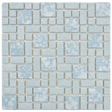 "Academy 11-3/4"" x 11-3/4"" Porcelain Mosaic in Blue"