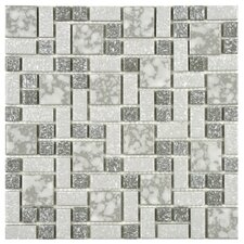 "<strong>EliteTile</strong> Academy 11-3/4"" x 11-3/4"" Porcelain Mosaic in Grey"