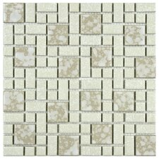 "Academy 11-3/4"" x 11-3/4"" Porcelain Mosaic in Bone"
