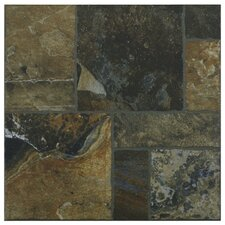 "Sunrise 13-1/2"" x 13-1/2"" Glazed Porcelain Floor and Wall Tile in Red"
