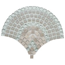 "Sierra 11-1/4"" x 9-1/2"" Polished Glass, Stone and Metal Mosaic in Arch Salton"