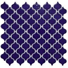 "Beacon Mini  11.25"" x 10.75"" Porcelain Mosaic Tile in Cobalt"