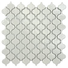 "Beacon Mini 11.25"" x 10.75"" Porcelain Mosaic Tile in Glossy White"