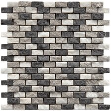 "<strong>EliteTile</strong> Grizelda 11-1/2"" x 11-1/2"" Natural Stone Mosaic in Charcoal"