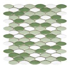 """Posh 2"""" x 3/4"""" Porcelain Mosaic in Hierba"""