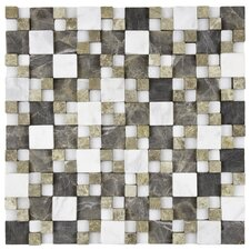 "<strong>EliteTile</strong> Grizelda 12"" x 12"" Natural Stone Mosaic in Sand"