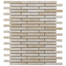 "Arcadia 12-3/4"" x 10-3/4"" Glazed Porcelain Brick Mosaic in Perla Bone"