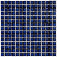 "Cobalt 5/8"" x 5/8"" Glazed Porcelain Square Mosaic in Cobalt"