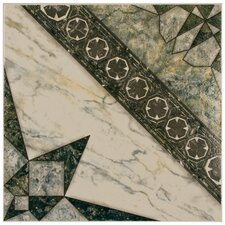 "Augusta 12-1/2"" x 12-1/2"" Glazed Ceramic Floor and Wall Tile in Azul"