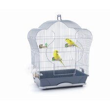 Elise 40 Bird Cage in Silver / Blue
