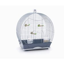 Evelyne 40 Bird Cage in Silver / Blue