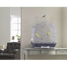 Melodie 50 Open Bird Cage in Silver / Blue