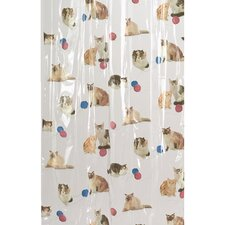 Kitty Heaven Vinyl Shower Curtain