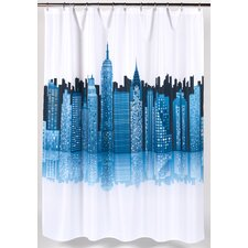 Cityscape Polyester Shower Curtain