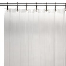 Extra Long 5 Gauge Vinyl Shower Curtain Liner