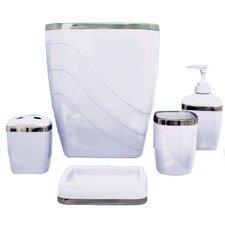 Plastic 5 Piece Bath Accessory Set