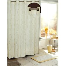 <strong>Carnation Home Fashions</strong> Ez On Bristol Fabric Shower Curtain