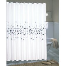 <strong>Carnation Home Fashions</strong> Dots Extra Wide Polyester Fabric Shower Curtain