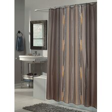 Catherine Extra Long Polyester Fabric Shower Curtain